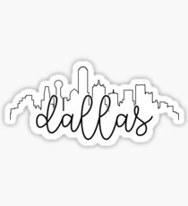 Stadtbild Umriss - Dallas Sticker