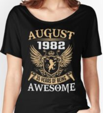 Kings Are Born On August 1982 Women's Relaxed Fit T-Shirt