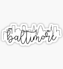 cityscape outline - baltimore Sticker