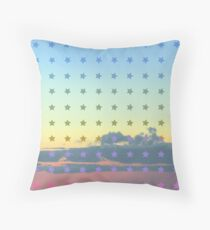 Cloud with Pattern 12-2 Throw Pillow