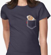 Poche de cochon de Guinée T-shirt col V femme
