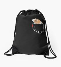 Guinea Pig Pocket Drawstring Bag
