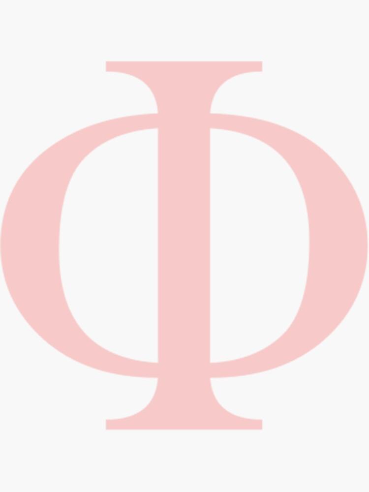 pinkfarbener griechischer Brief von hopefuldesigns