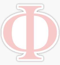 phi- millennial pink greek letter Sticker