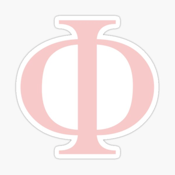 phi- millennial pink greek letter Sticker