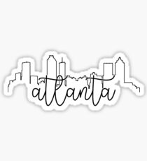 Stadtplanumriss - Atlanta Sticker