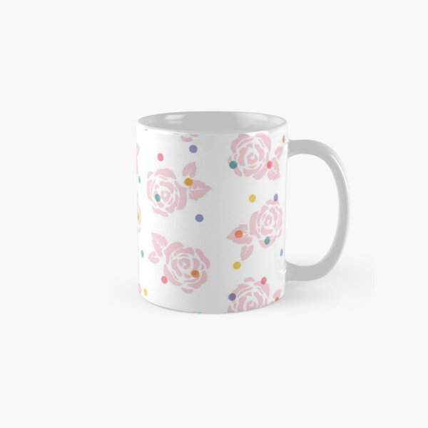 Polka Dot Roses Classic Mug