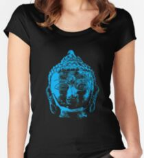 Buddha Blue Women's Fitted Scoop T-Shirt