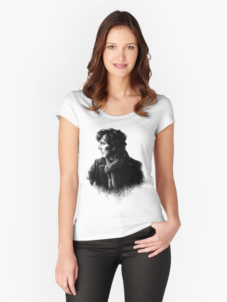 Sherlock Women's Fitted Scoop T-Shirt Front