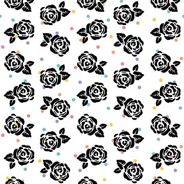 Polka Dot Roses in Black by istaria