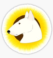 Bull Terrier With Sunflower  Sticker