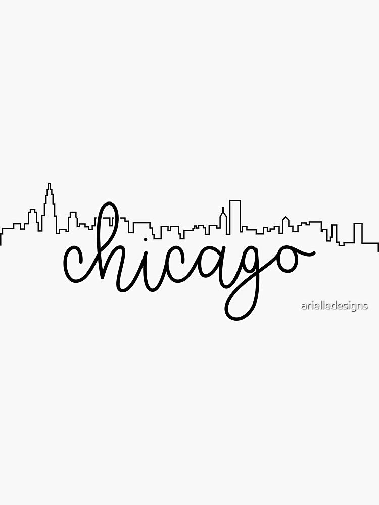 contorno del paisaje urbano - chicago de arielledesigns