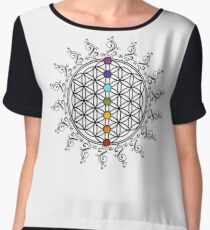 Buddha Flower of Life Women's Chiffon Top