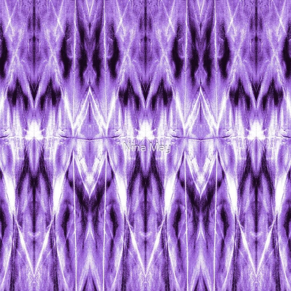 Purple Argyle Shibori by Nina May