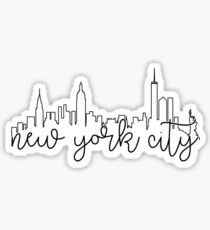 cityscape outline - nyc Sticker