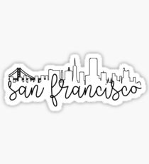 cityscape outline - san francisco Sticker