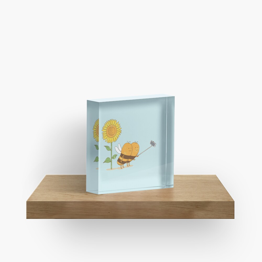 BFF wefie Acrylic Block