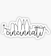 cityscape outline - cincinnati Sticker