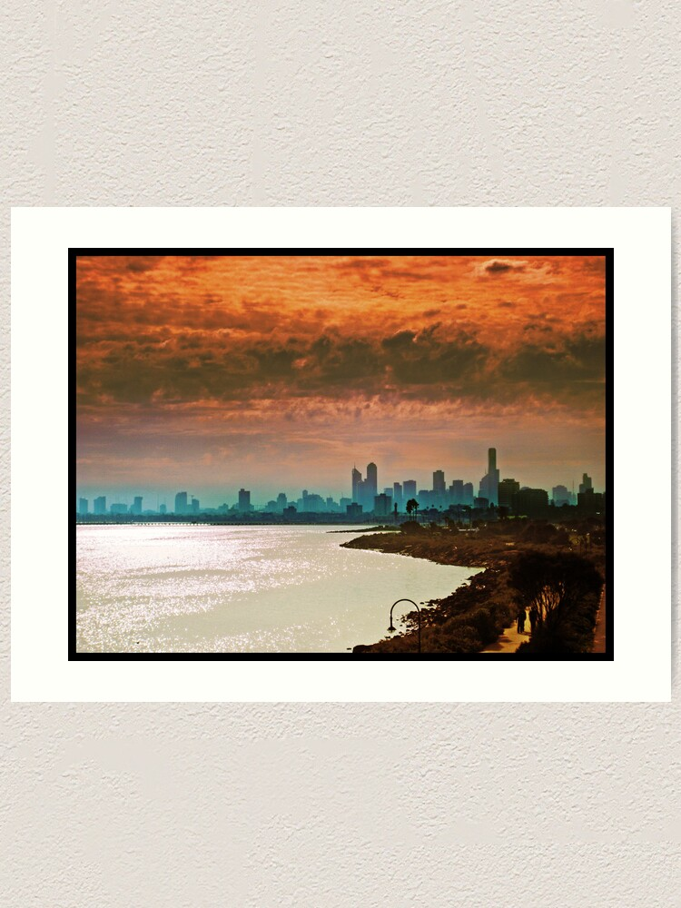 Alternate view of City of Melbourne, Australia Art Print