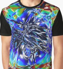 Abstract Rainbow Graphic T-Shirt