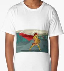 epic spartan soldier in the rain Long T-Shirt