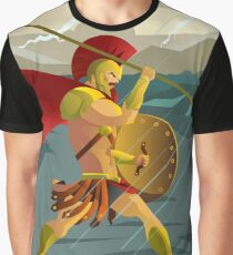 epic spartan soldier in the rain Graphic T-Shirt