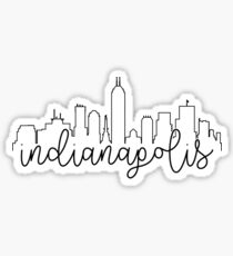 cityscape outline - indianapolis Sticker
