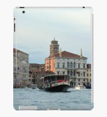 6 June 2017 Vaporetto on Canal Grande in Venice, Italy iPad Case/Skin
