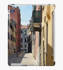 Narrow street with colorful buildings in Venice, Italy iPad Case/Skin