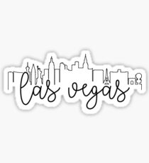 cityscape outline - las vegas Sticker