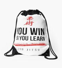 Du gewinnst oder lerne Dark Jiu Jitsu Turnbeutel
