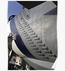 Bomb stencils on an F-14D Tomcat. Poster