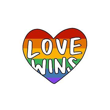 'Love Wins' Lettering e Ilustración de bloemsgallery