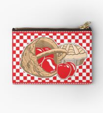 Basket of Red Delicious Apples and Pie Studio Pouch