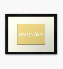 yellow choose love Framed Print