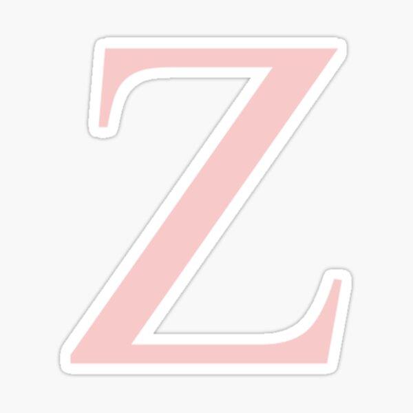 zeta- millennial pink greek letter Sticker