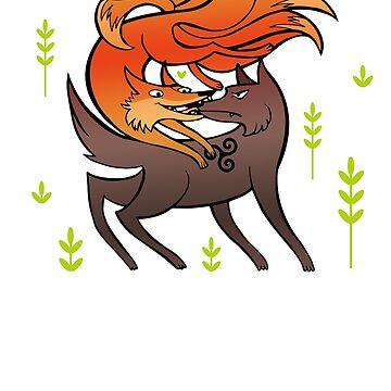nogitsune & sourwolf by WindOverTheWate