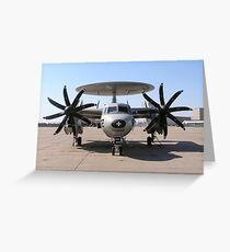 An E-2C+ Hawkeye sits on the flight line on board Naval Station Norfolk, Virginia. Greeting Card