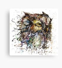 Angry owl design Canvas Print
