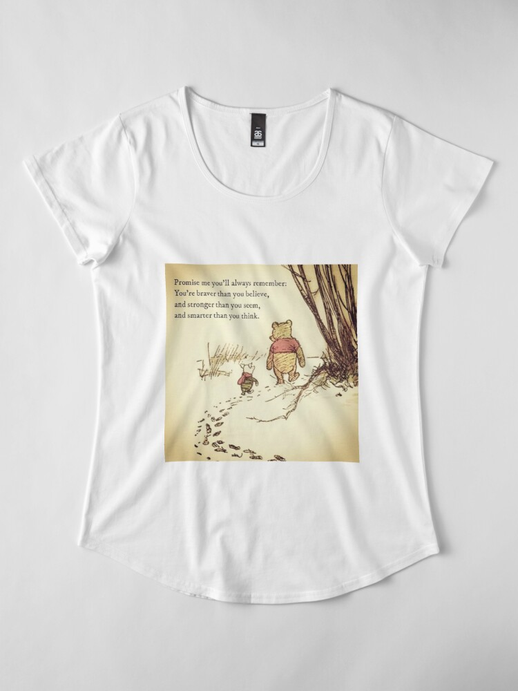 Alternate view of You Are BRAVE Premium Scoop T-Shirt