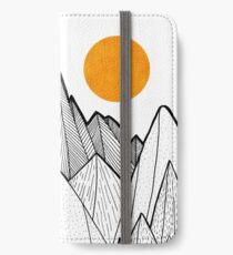 The mountains and the sea under the sun iPhone Wallet/Case/Skin