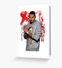 Chris Brown Art merchandise Greeting Card