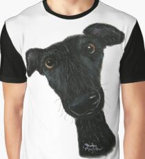 Nosey Dog Whippet 'Hank' by Shirley MacArthur Graphic T-Shirt