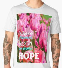 hope in nature, positive quote Men's Premium T-Shirt