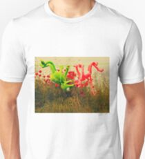pink pantera and kermit on the field T-Shirt