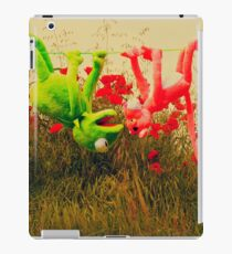 pink pantera and kermit on the field iPad Case/Skin