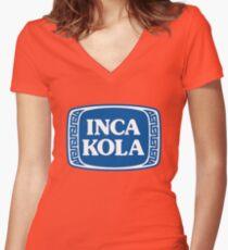 Inca kola sticker Women's Fitted V-Neck T-Shirt