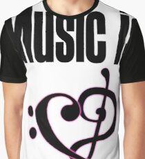 Music is love Graphic T-Shirt
