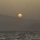 Sunset over Paros island mountains by Parafull