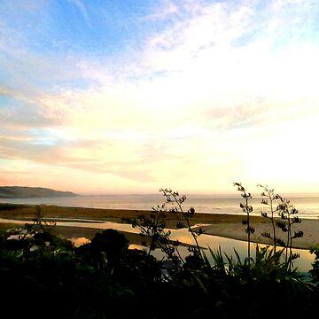 Sunset beach by mauriandbrio